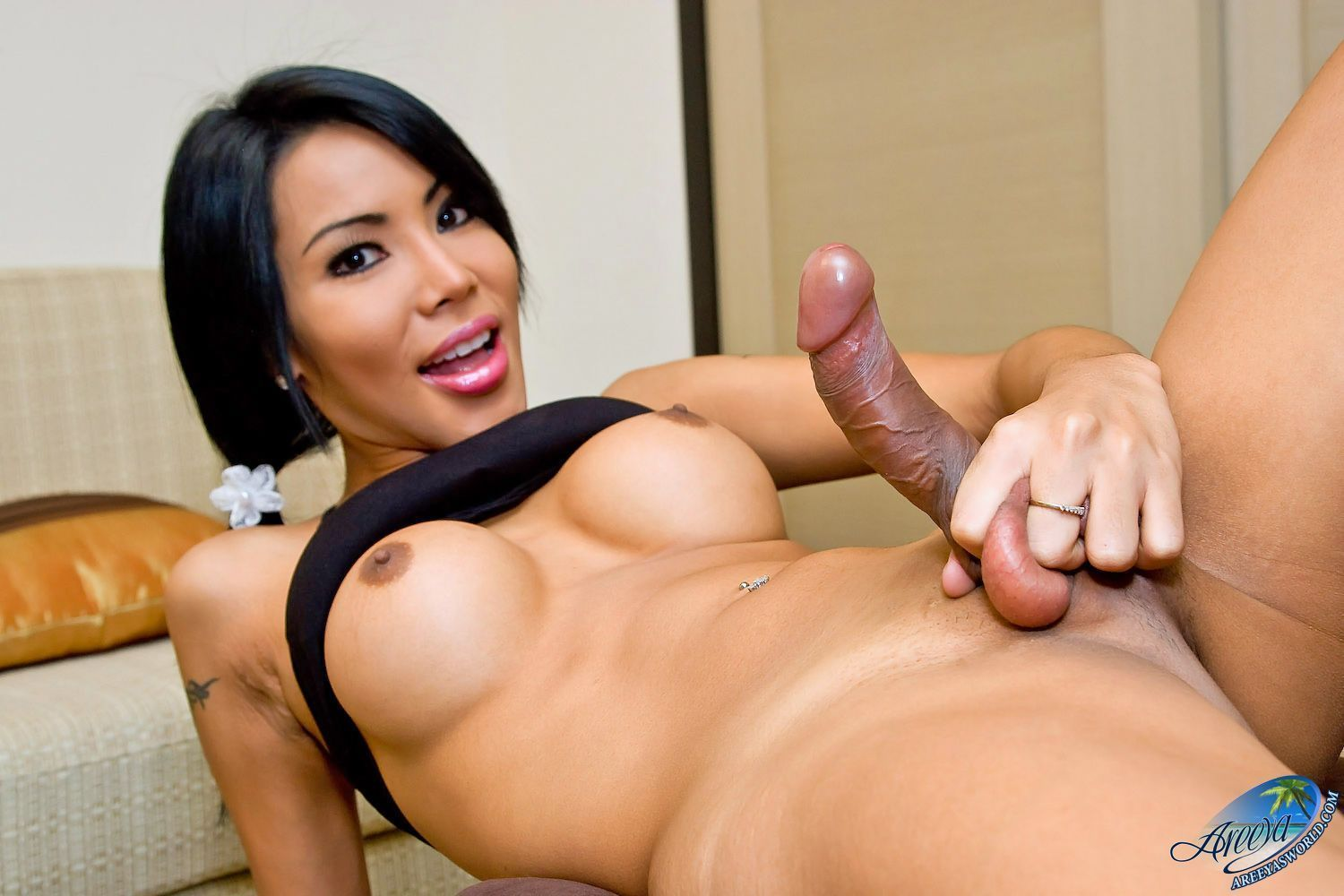 female deep dildo insertion